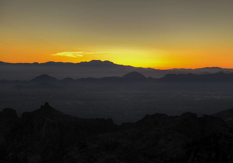 tucson sunset landscape background